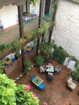 Seville hotel courtyard